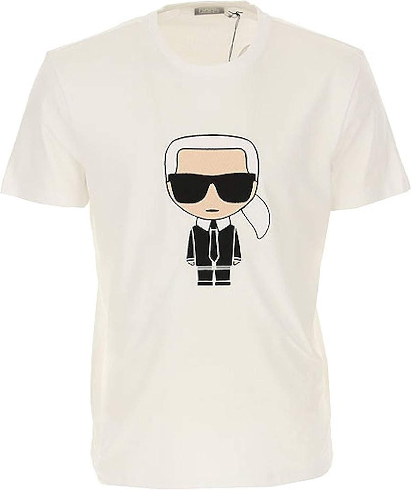 Karl lagerfeld t-shirt, maglietta per uomo,in puro cotone al 100 % 755060
