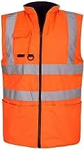 Shelikes HI VIS VIZ Visibility Reversible Body Warmer Gilet Sleeveless Waistcoat