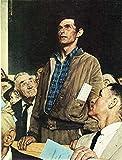 Freedom Of Speech Norman Rockwell Portrait...