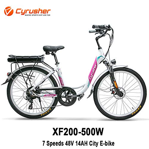 cool pink and white electric bike for sale