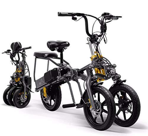 "XCBY Bicicletta Elettrica Pieghevole, E-Bike Fold 350W 48V 15.6AH 14\""Lega Leggera Bici Ripiegabile Elettrica"