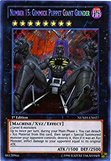 Yu-Gi-Oh! - Number 15: Gimmick Puppet Giant Grinder (NUMH-EN027) - Number Hunters - 1st Edition - Secret Rare
