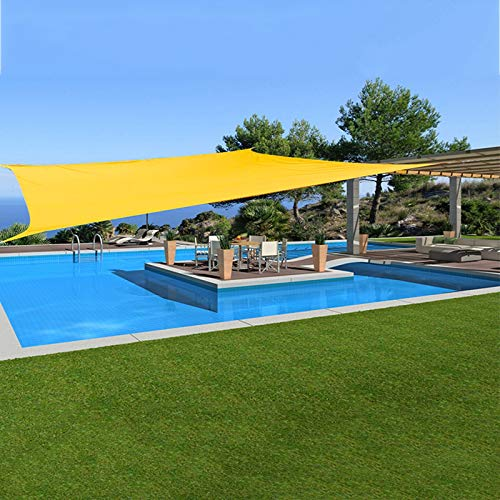 Toldos, Rectángulo Vela De Sombra con 4 * Cuerdas De Fijación 95% A Prueba De Rayos UV, Resistente Al Agua Toldo con Dosel para Jardín De Patio Al Aire Libre ZHANGXU (Color : Yellow, Size : 3x6m)