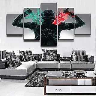 mmwin Cuadro en Lienzo decoración para el hogar, Arte de Pared, 5 ...