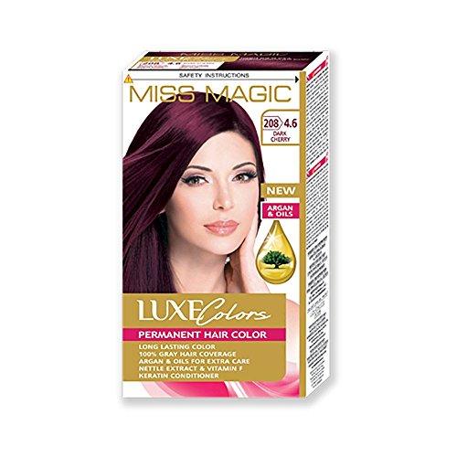 Miss Magic Haarfarbe Rot Kirsche dunkel Hair Farbe mit Argan.