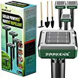 Best Mole Repellents - Solar Mole Repellent Ultrasonic 4 Pack Outdoor Powered Review