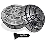 Death Star Herb Grinder - Star Wars Grinder With BONUS Scraper - Star Wars Gifts - Herb & Spice Tool With Catcher - 3 Part Grinder, 2.2 Inches by Nestpark