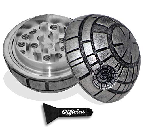Official Death Star Herb Grinder - Star Wars Grinder With BONUS Scraper - Star Wars Gifts - Herb & Spice Tool With Catcher - 3 Part Grinder, 2.2 Inches by Nestpark