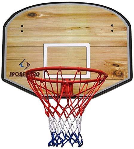 SONGYU-Basketball-Ständer Kinder Basketballkorb Aus Holz Basketball-Rückenbrett Hang Innen Kind Schießen Spielzeug Eisen Felgendurchmesser 45 cm Basketballkorb (Color : B)