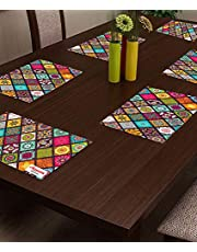 Arpan Industries PVC Placemats/Mat for Dining Table Kitchen (Set of 6 Pieces) Waterproof, Plastic(45 X 30 cm, Multi Color) - DEFA6015