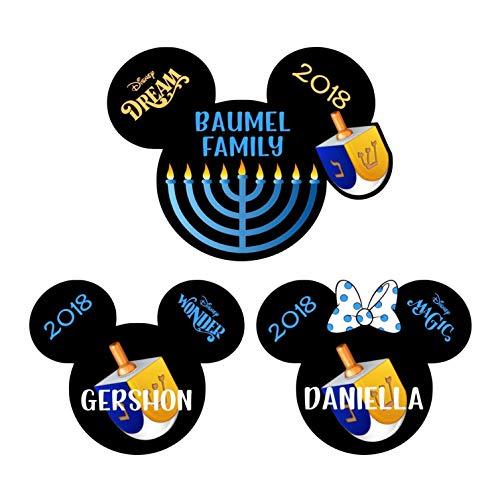 Hanukkah Disney Magnet. Disney Cruise Magnet. Chanukah Mickey Minnie Dreidel Magnet. Stateroom Menorah Door Decor.