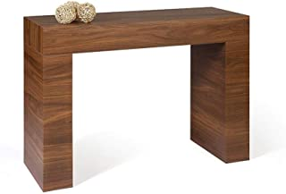Mobili Fiver, Mesa Consola, Modelo Evolution, Color Nogal Americano, 110 x 40 x 80 cm, Made in Italy