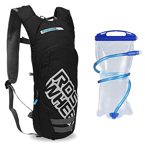 Flytise 8 L Outdoor Running Bag with Drinking Bag Bicycle Backpack Sports Vest Ultralight Riding Bags Women Men Breathable Jogging Sport Backpack Soft Water Flask For Camping Hiking Cycling Sport Bag