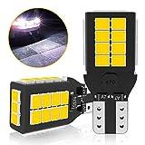 T16 LED バックランプ 爆光 2400ルーメン キャンセラー内蔵 バックランプ T16 / T15 2835LED 27連 12ヶ月保証 12V-24V 無極性 ホワイト 後退灯 バックライト (2個セット)