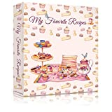 LuBudingJoy Family Recipe Binder, Hardcover Recipe Binder 3 Ring, Create Your Recipe Organizer Binder, Large Cookbook Binder with Recipe Cards, Sleeves and Dividers (Delicious Desserts)