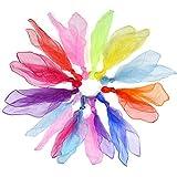 LIHAO 24 Piezas Pañuelos de Malabares Bufandas de Baile Pañuelo Danza Niña para Actividades Juegos Música (12 Colores, 60x60cm)