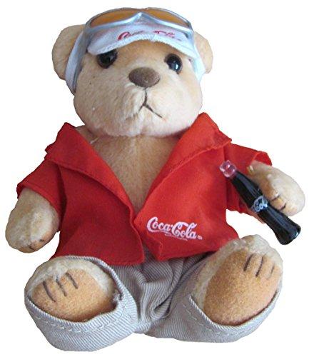 Coca-Cola - Bär mit Cappi & Brille & Flasche - ca. 12 cm