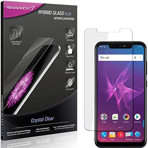 SWIDO Panzerglas Schutzfolie kompatibel mit Allview Soul X5 Pro Bildschirmschutz-Folie & Glas = biegsames HYBRIDGLAS, splitterfrei, Anti-Fingerprint KLAR - HD-Clear