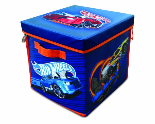 Hot Wheels A1686XX ZipBin 300 Car Storage Cube and Playmat, Brown