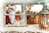 AOFOTO 5x3ft Christmas Window Sill Backdrop New Year...