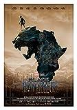 Black Panther (Africa Ver. F) Movie Poster Size 24'x36' (Chadwick Boseman, Michael B. Jordan)