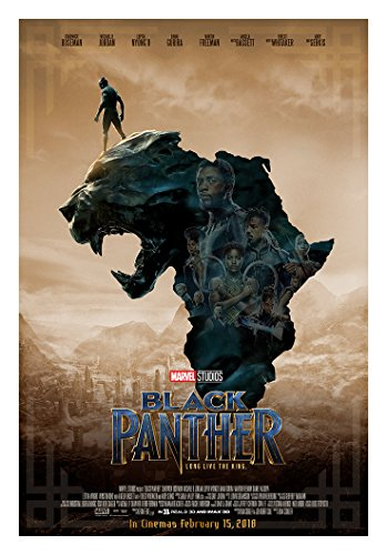 "KodiakPrints Black Panther (Africa Ver. F) Movie Poster Size 24""x36"" (Chadwick Boseman, Michael B. Jordan)"