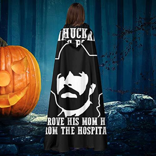 NULLYTG Chuck Norris - Capa de Disfraz de Bruja con Capucha, para Halloween, Navidad, Halloween