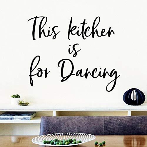Hermosa frase de cocina pegatina de vinilo ecológica pegatina de pared para sala de cocina mural arte pegatina de pared A1 42x51 cm