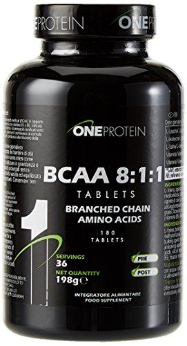 One Protein BCAA 8:1:1 Integratore Alimentare di Aminoacidi Ramificati BCAA -180 Compresse