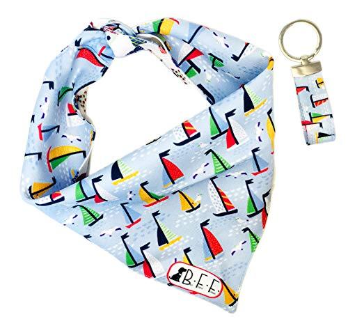 KIT BFF Bandana para perros y llavero combinado para su mejor amigo. Paliacate reversible 2 looks en 1 con un hermoso regalo combinado. Incluye: llavero y scarf para mascotas hecha...