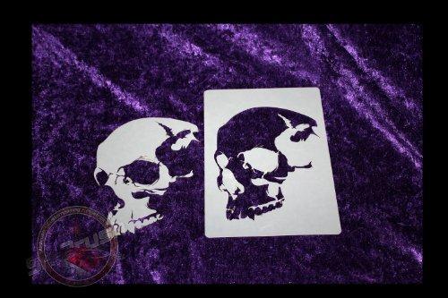 Profi Airbrush Schablone für Schädel - Totenköpfe - Skull's