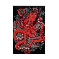 赤いタコ Red Octopus 1000個の 木製ピース ジグソーパズル ワンピース (50x75cm) ジグソーピース 立体パズル 木製ジグソーパズル 大人 おもちゃ 積み木 木のパズル