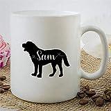 Taza personalizada de San Bernardo, taza de café, novedad divertida, taza de té de cerámica, regalo personalizado para el amante del perro, regalo de inauguración de la casa de cumpleaños de Navidad p