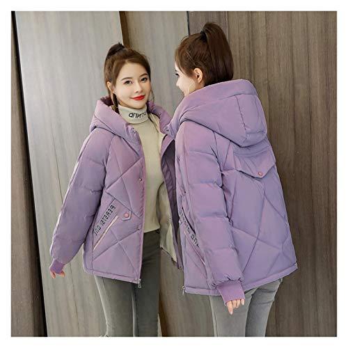 Mujeres Chaquetas de plumón corto impresión de carta otoño invierno chaqueta mujeres cálido sólido con capucha abajo parka algodón chaqueta abrigo S-XXXL