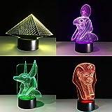 Farbwechsel ägyptische Lampe Lampe Illusion Farbwechsel Tischlampe mit schwarzem Touch Base...
