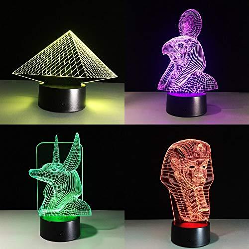 Farbwechsel ägyptische Lampe Lampe Illusion Farbwechsel Tischlampe mit schwarzem Touch Base Dekoration Nachtlicht