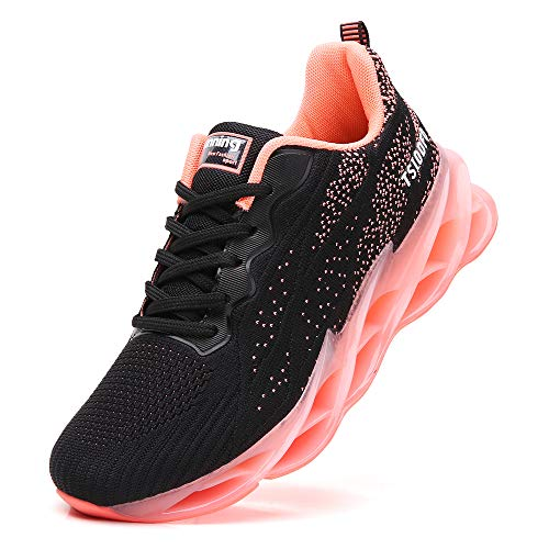 TSIODFO Jogging Shoes for Women mesh Breathable Comfort Fashion Sport Running Shoes Athletic Walking Sneakers Ladies Runner Casual Tennis Pink Size 7.5