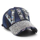 Gorra de béisbol para mujer con cristales de estrás con tachuelas, estilo vintage,...
