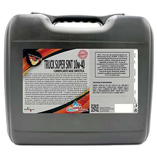 El aceite de motor para los camiones en sintético 10W40-20 litros - camiones Super SINT