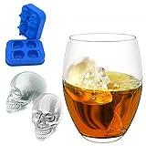 MAYOGO Eiswürfel Schädel Form Schimmel,Schädel Form 3D Eiswürfelform Maker Bar Party Silikon...