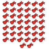 YoungerY Tazas de bebederos de Pollo automáticas 50 Piezas/Juego Bebedero de Aves de gallina de Pollo Rojo Tazón de Fuente de alimentación Tazas de Agua de Aves de Corral Ajustables
