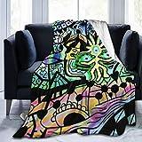 WAUKaaa Fleecedecke, magische psychedelische Trippy-Decke, ultraweich, Samt, 127,7 x 101,6 cm