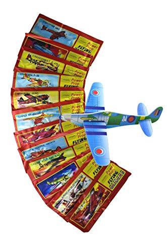 Styropor-Flieger zum zusammenbauen - 12er Set jeweils einzeln verpackt