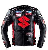 Chaqueta de cuero profesional Moto GP Negro Team Racing ((XL(EU56)