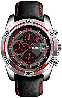 Skmei Casual Watch For Men Analog Leather - 3022