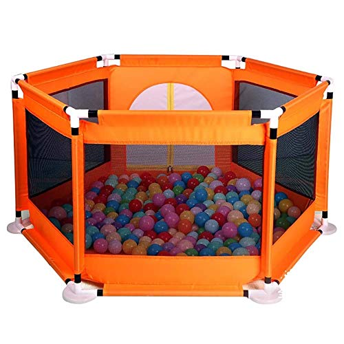 Great Price! HEMFV Portable Assembled Indoor Child Playpen Safety Household Protective Crawling Fenc...
