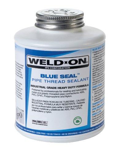 Weld-On Blue Seal Industrial Grade Pipe Thread Sealant, Zero VOC, 1/2 Pint (8 Fl. Oz.)