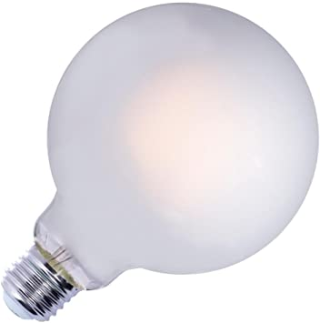 Bulbrite Led G40 Dimmable Medium Screw Base E26 Light Bulb 75 Watt Equivalent 2700k Frost Amazon Com