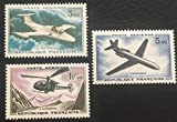 par des Livres Express. Timbre Neuf** de Collection Authentique. Poste aérienne France 1960 No 39, 40 et 41 Neufs sans charnière. Avions: Hélicoptère, caravelle...