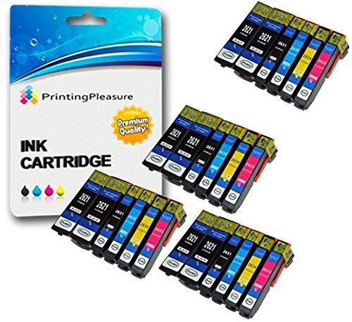 24 Compatibili 26XL Cartucce d'inchiostro per Epson Expression Premium XP-510 XP-520 XP-600 XP-605 XP-610 XP-615 XP-620 XP-625 XP-700 XP-710 XP-720 XP-800 XP-810 XP-820 - Alta Capacità